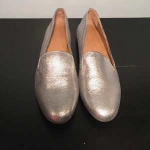 New without box J. Crew silver loafers